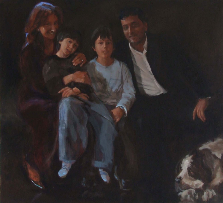 Cinar en Pinar met kinderen