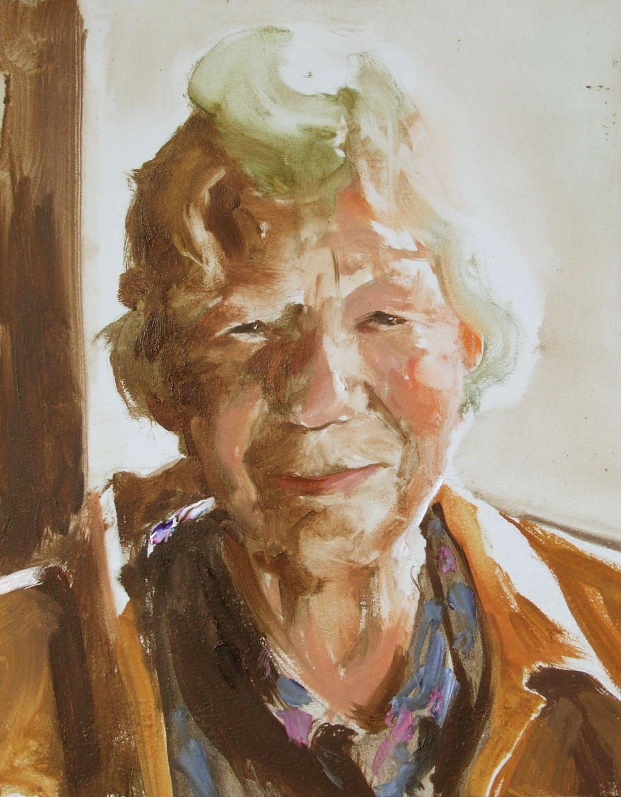 Portret van de moeder van Annet